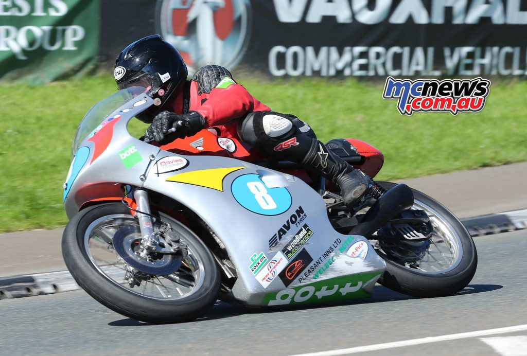 Third place went to Alan Oversby in Monday's Okells Junior Classic TT Race. He was riding a Davies Motorsport Honda.