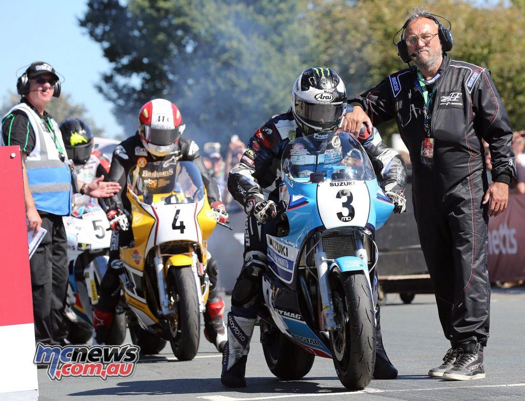 Michael Dunlop starts the Motorsport Merchandise Superbike Classic TT