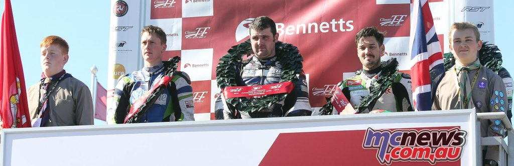 Classic Superbike TT 2016 - Michael Dunlop the victor and after the race both Harrison and Hillier disqualified after failing technical inspections