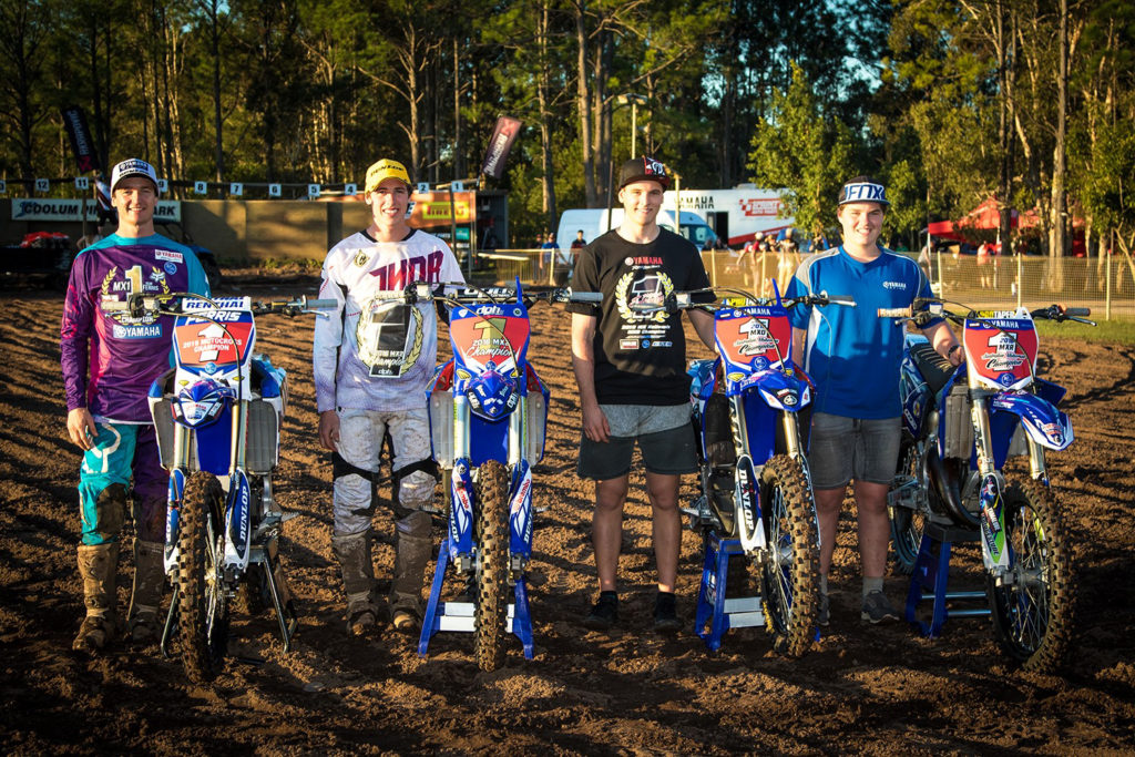 Yamaha Racing racked up four number 1 plates at the MX Nationals - MX1 – Dean Ferris (YZ450F) MX2 – Jed Beaton (YZ250F) MXD – Mitch Evans (YZ250F) MXR - Cody Dyce (YZ125)