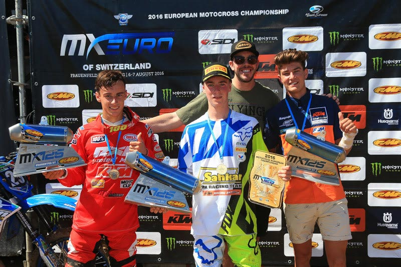 Newly crowned EMX125 champion Jago Geerts