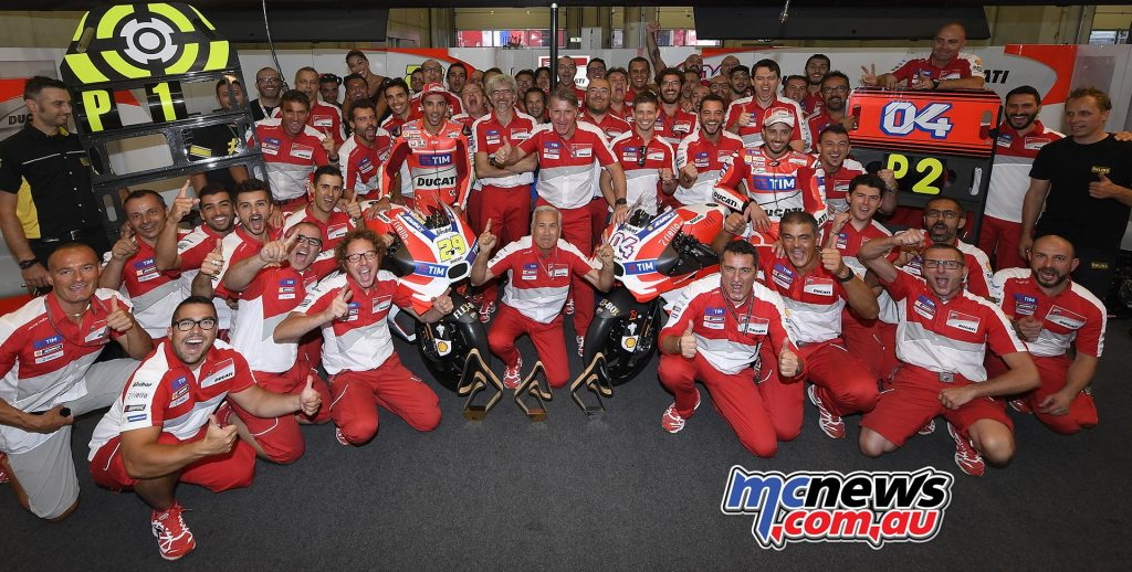 Team Ducati celebrate Red Bull Ring 1-2