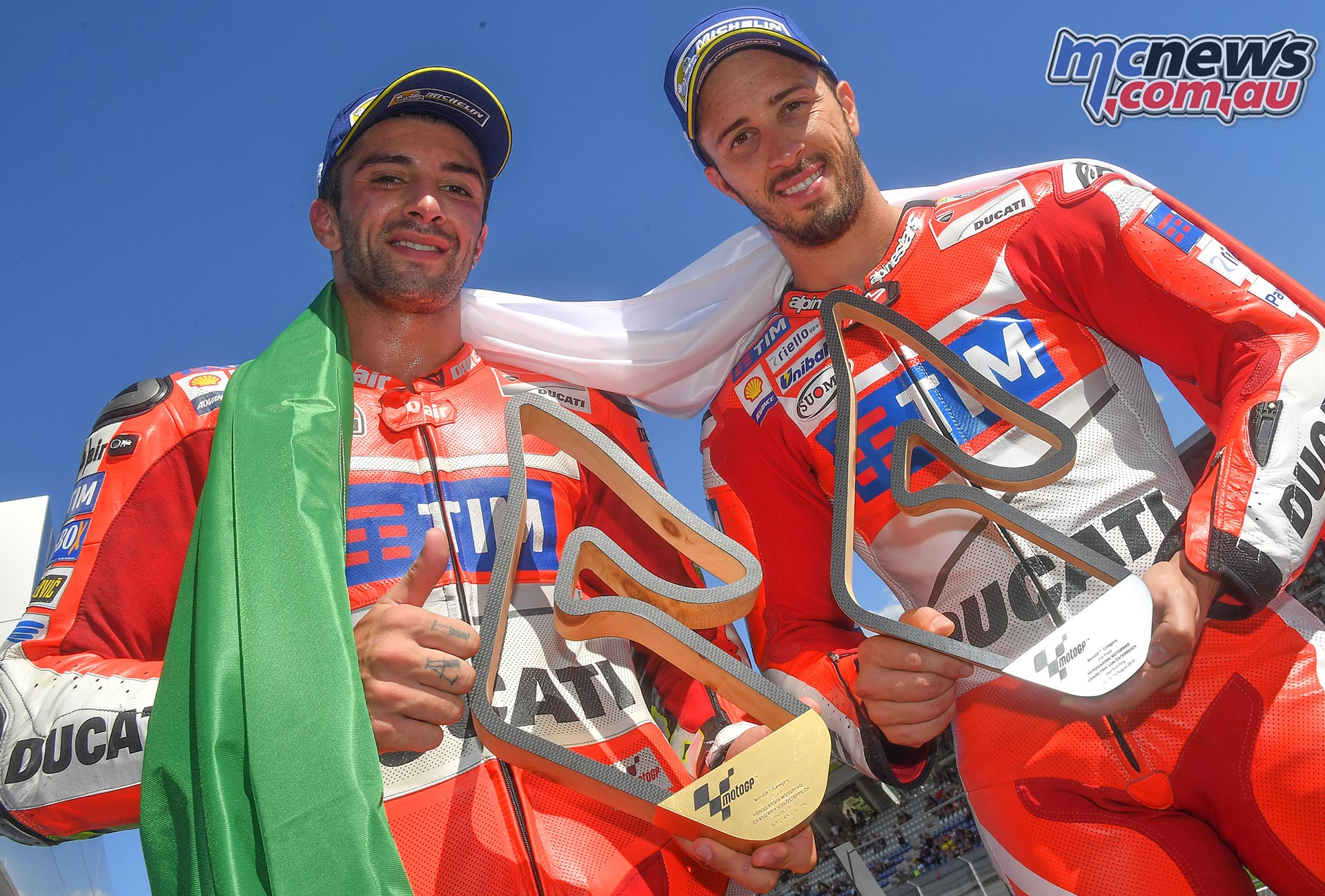 First MotoGP win for Andrea Iannone and first Ducati victory since 2010 Pos 1: Andrea Iannone, Pos 2: Andrea Dovizioso