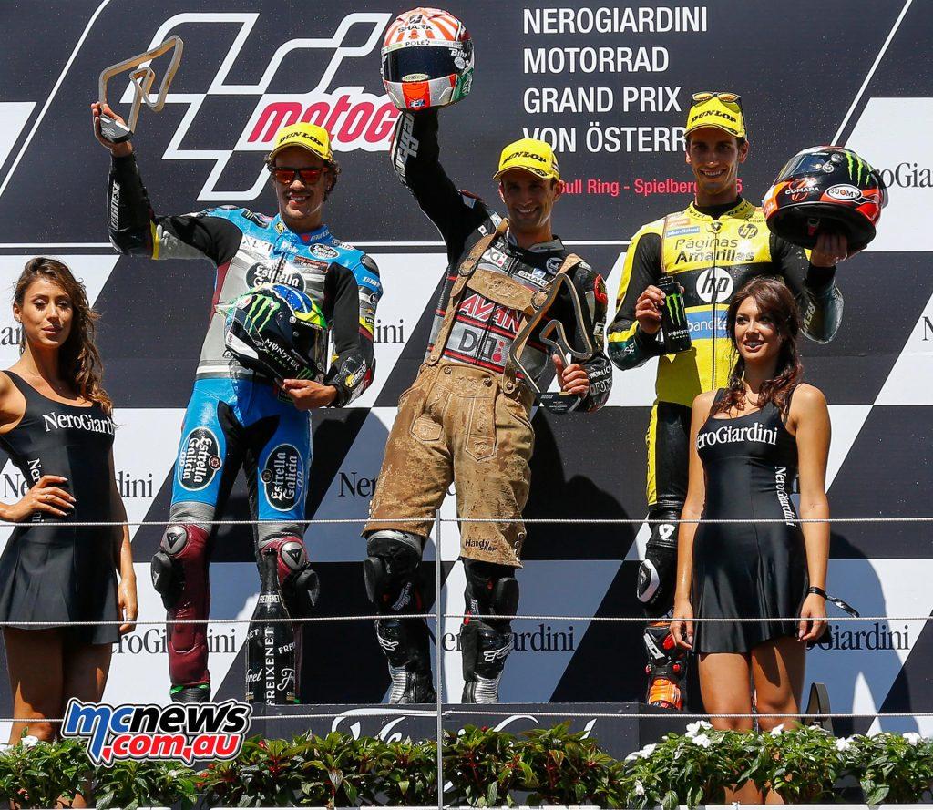MotoGP 2016 - Red Bull Ring - Podium - Moto2