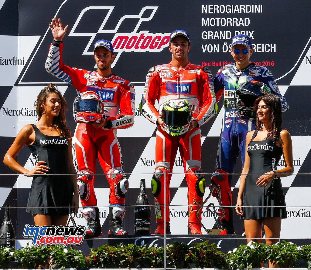 MotoGP 2016 - Red Bull Ring - Podium - MotoGP