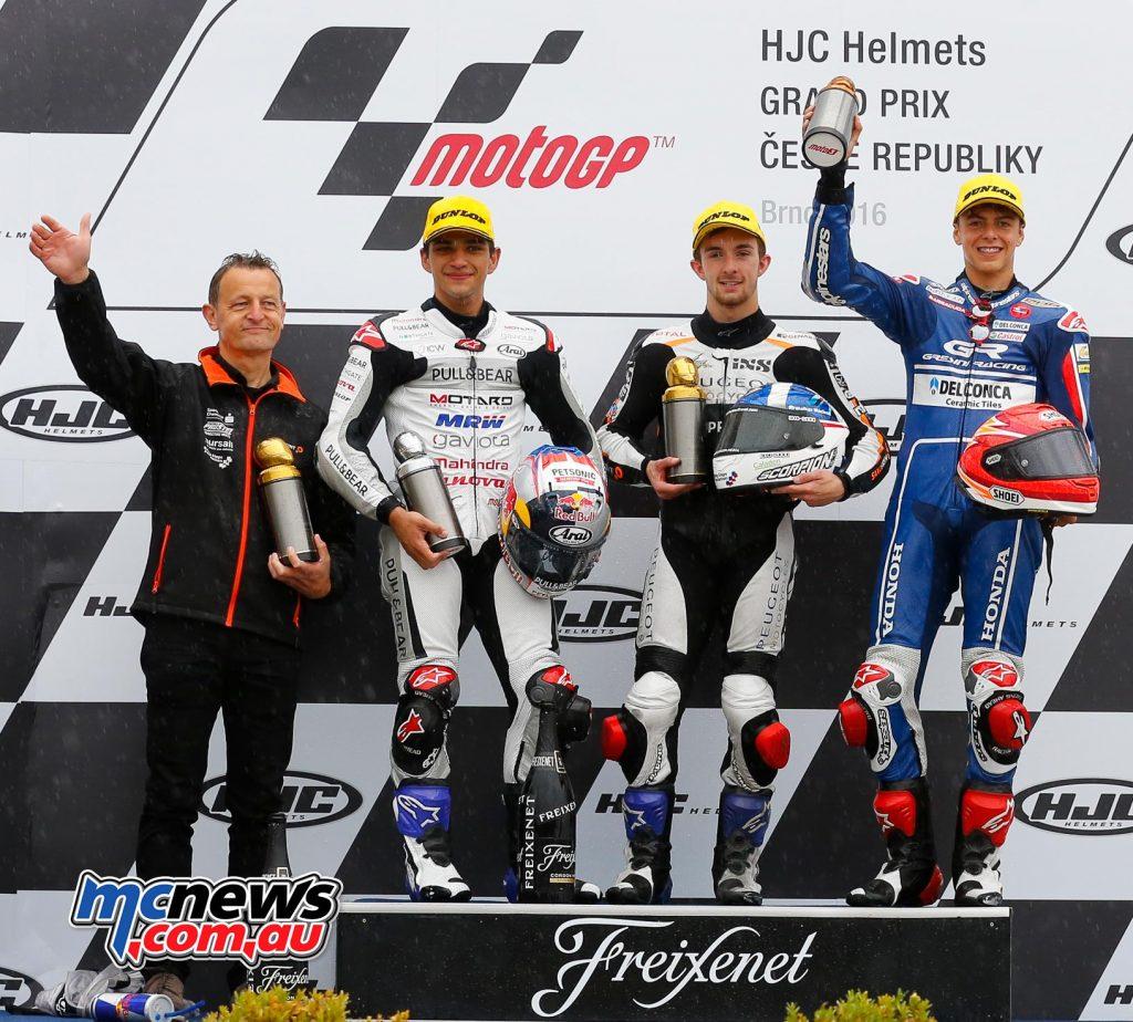 MotoGP 2016 - Round Ten - Brno - Podium - Moto3