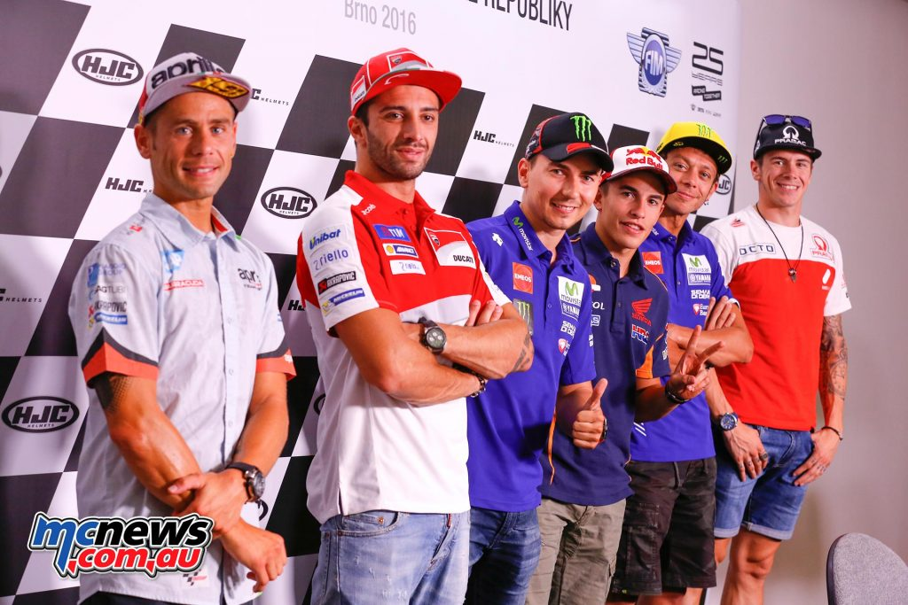 MotoGP Brno 2016 - Pre-event press conference sees discussions center around the points battle after Ducati's win in Austria