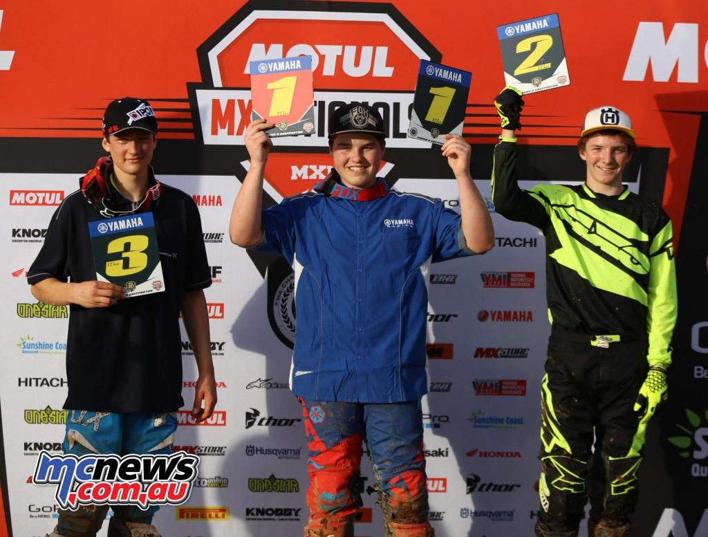 Cody Dyce won the Rookies Cup round at Shepparton