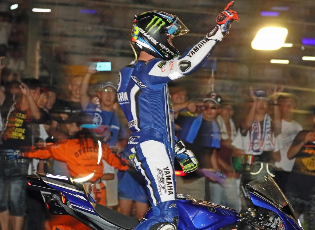 Suzuka 8 Hour 2016 - Alex Lowes arrives in Parc Ferme after taking victory