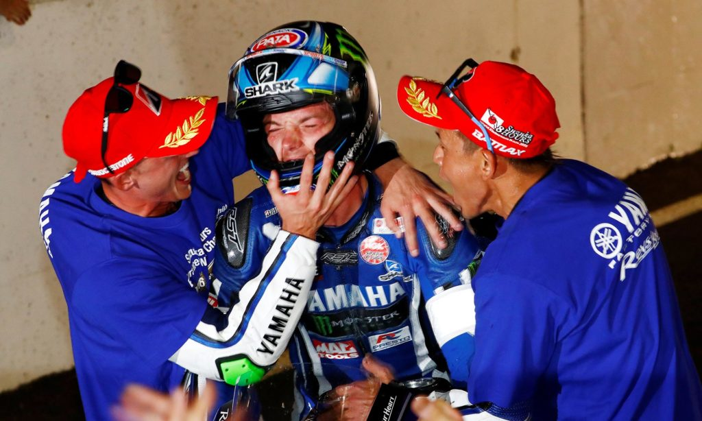 Suzuka 8 Hour 2016 - Naksuga, Lowes and Espargaro celebrate victory