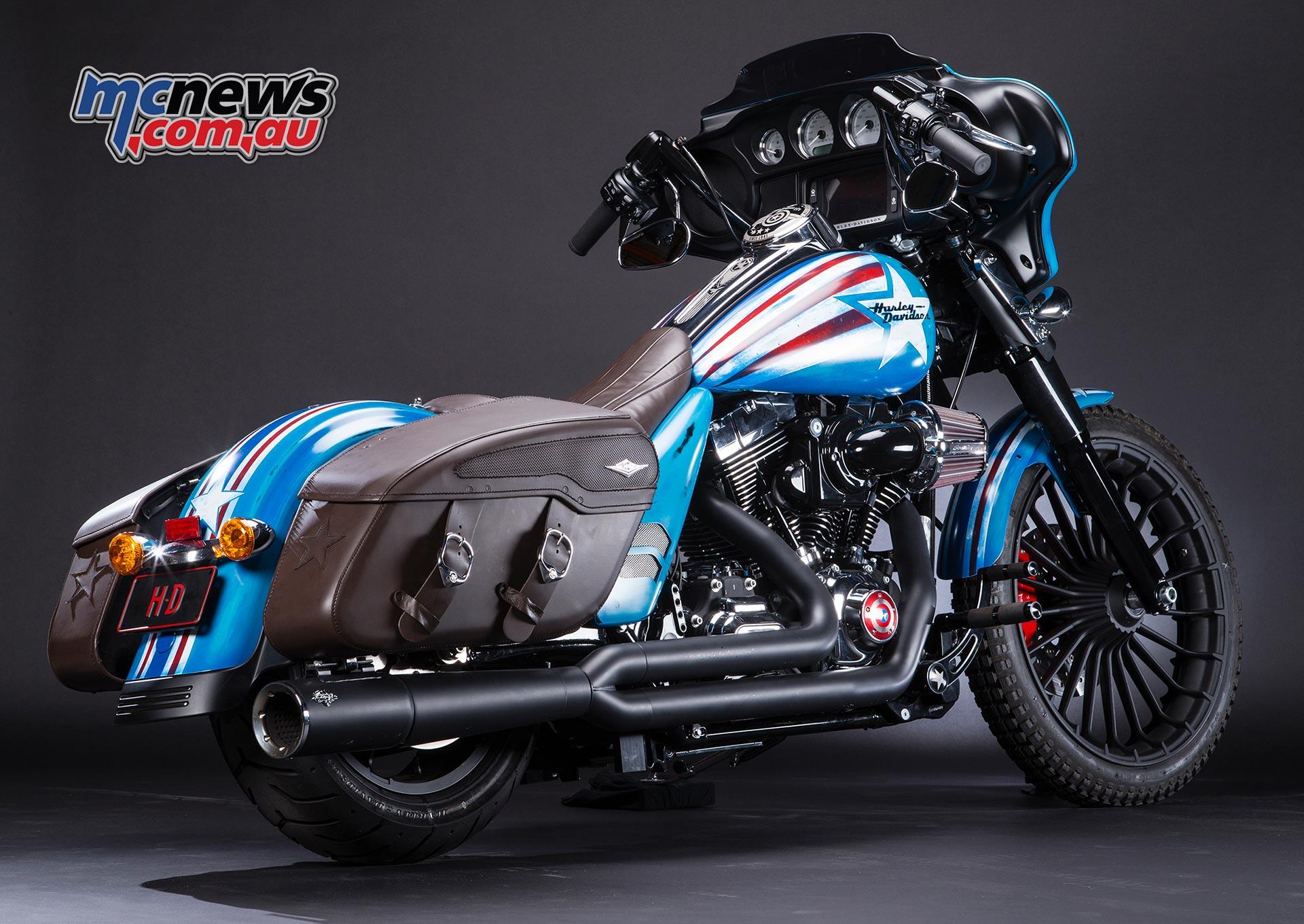 Harley Davidson Marvel Bike
