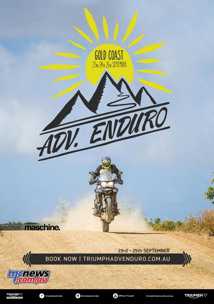 Triumph Australia presents ADV. Enduro Powered by Maschine, a three day adventure ride 23 – 25 September straddling the NSW / QLD border through iconic Australian riding terrain.