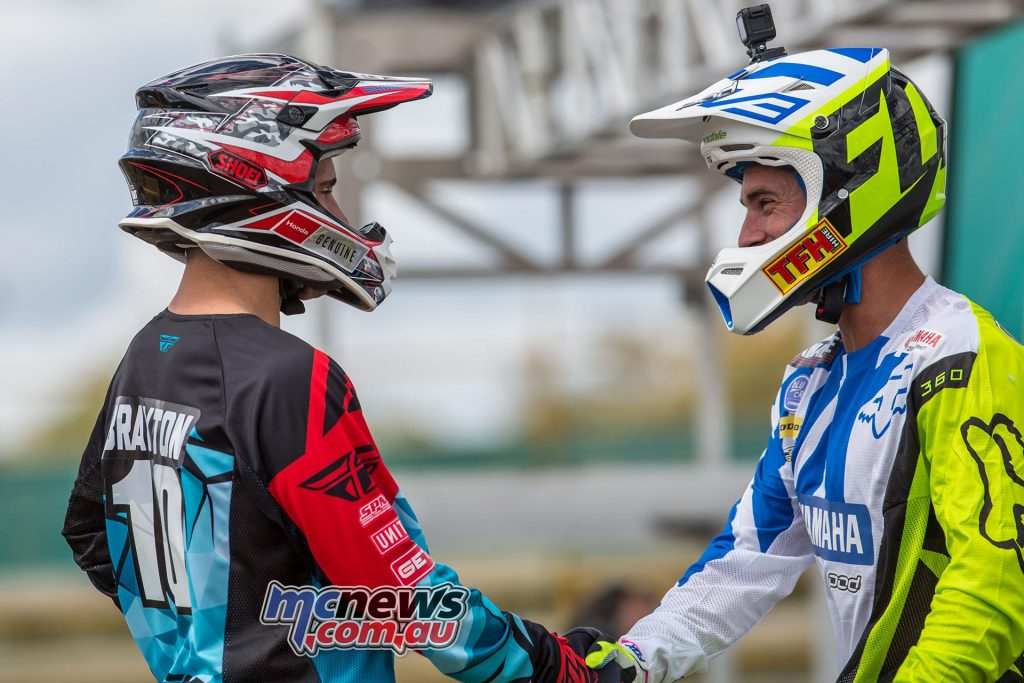 Australian Supercross 2016 - Round One- Image by Marc Jones - Justin Brayton and Dan Reardon