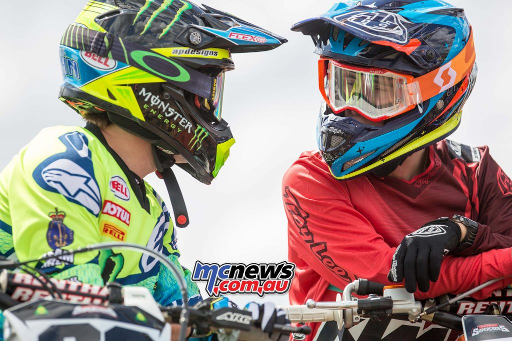 Australian Supercross 2016 - Round One- Image by Marc Jones - Wil Hahn and Kyle Peters