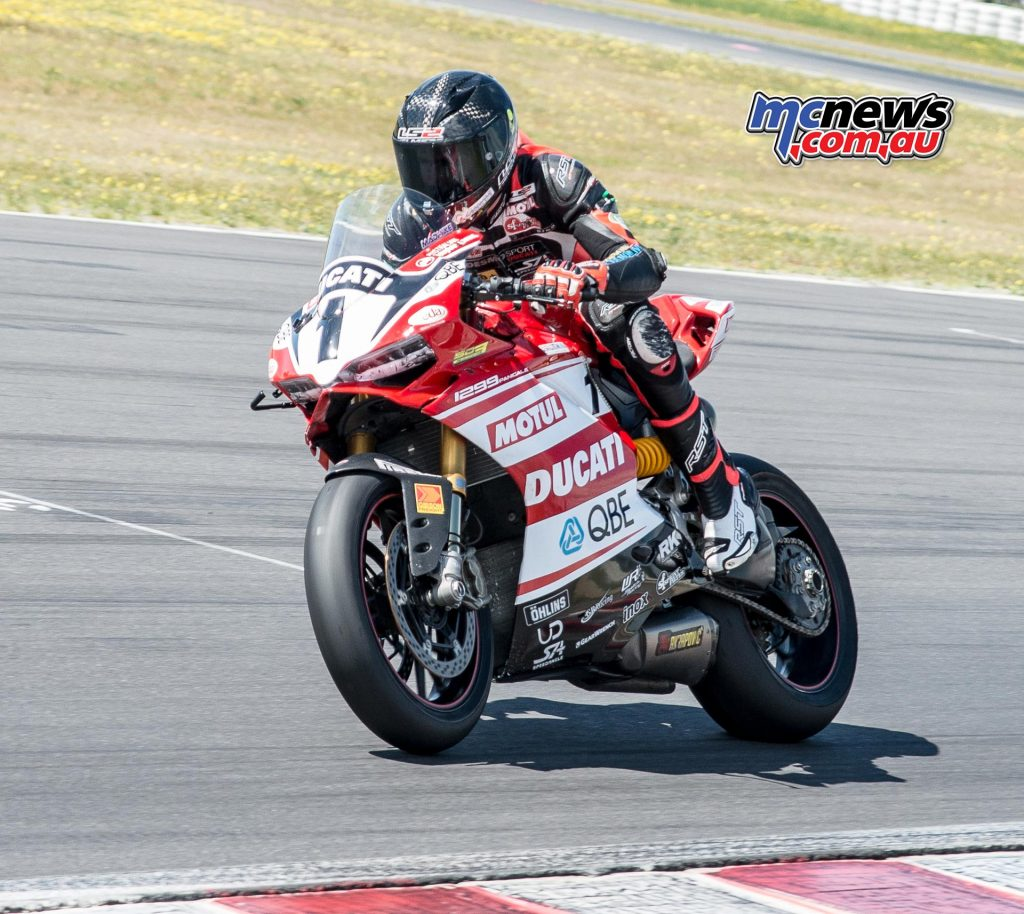 Mike Jones at the ASBK Test