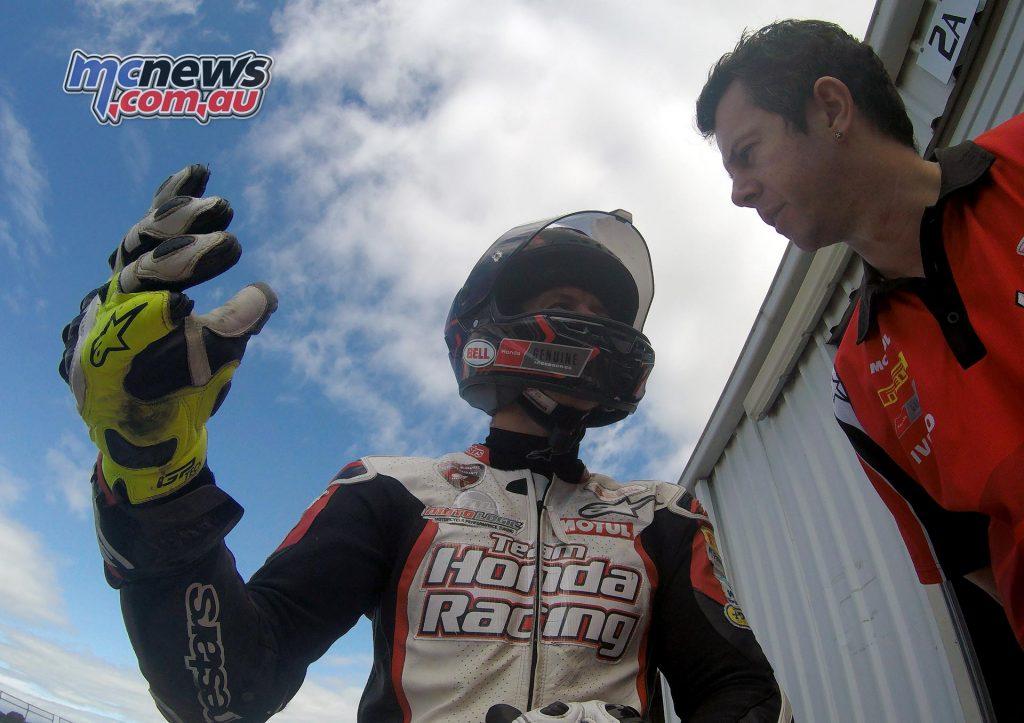 Troy Herfoss and mechanic Shaun Clarke