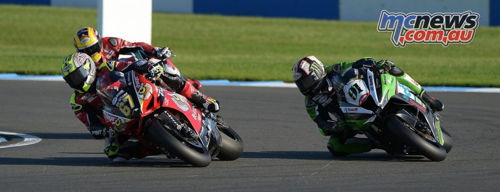 British Superbike 2016 -Round Ten - Donington - Image by Jon Jessop - Shane Byrne and Leon Haslam