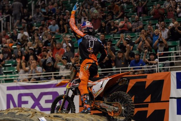Cody Webb captured his first win of the Endurocross season