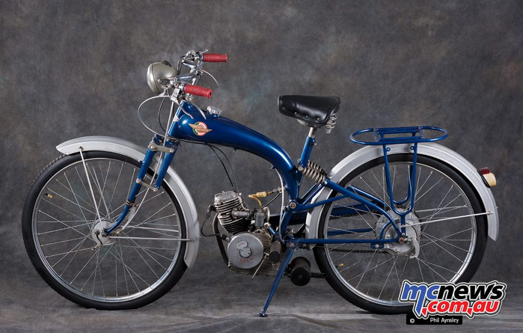 The 60 motor was soon updated to 65cc and conventional push-rods replaced the pull-rods.