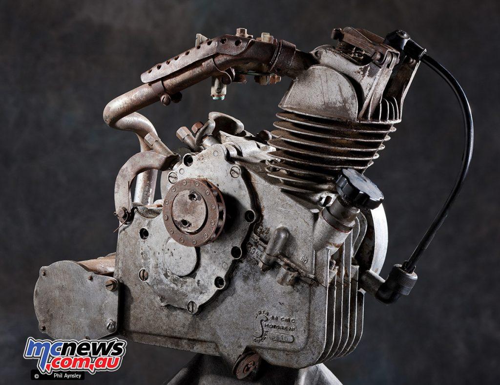 The Cucciolo T1 produced 1.25hp at a max rpm of 5,200.