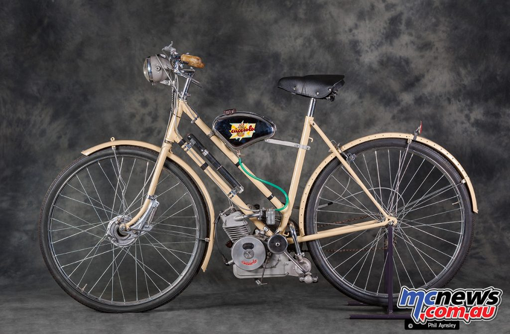 Here is a slightly later T1 Cucciolo (Eng No. 27359) motor fitted to a bicycle.