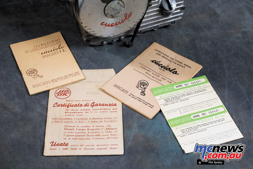 The paperwork for the Weber MF14 carburettor is dated 3/3/49.