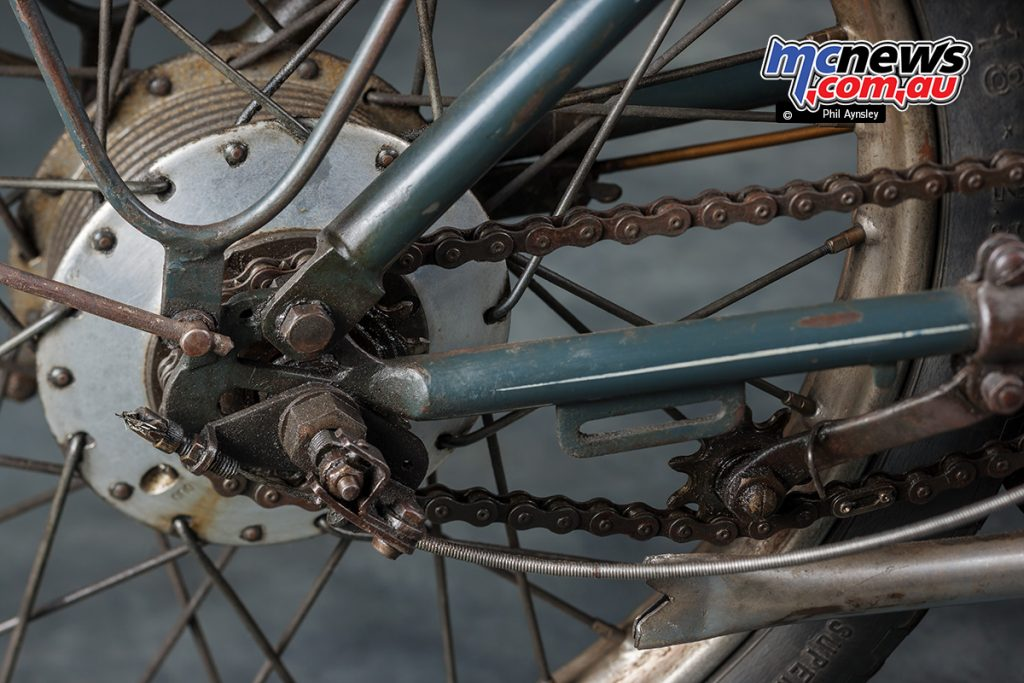 The 1953 Cointot-Freres CM 504 rear gear cluster.