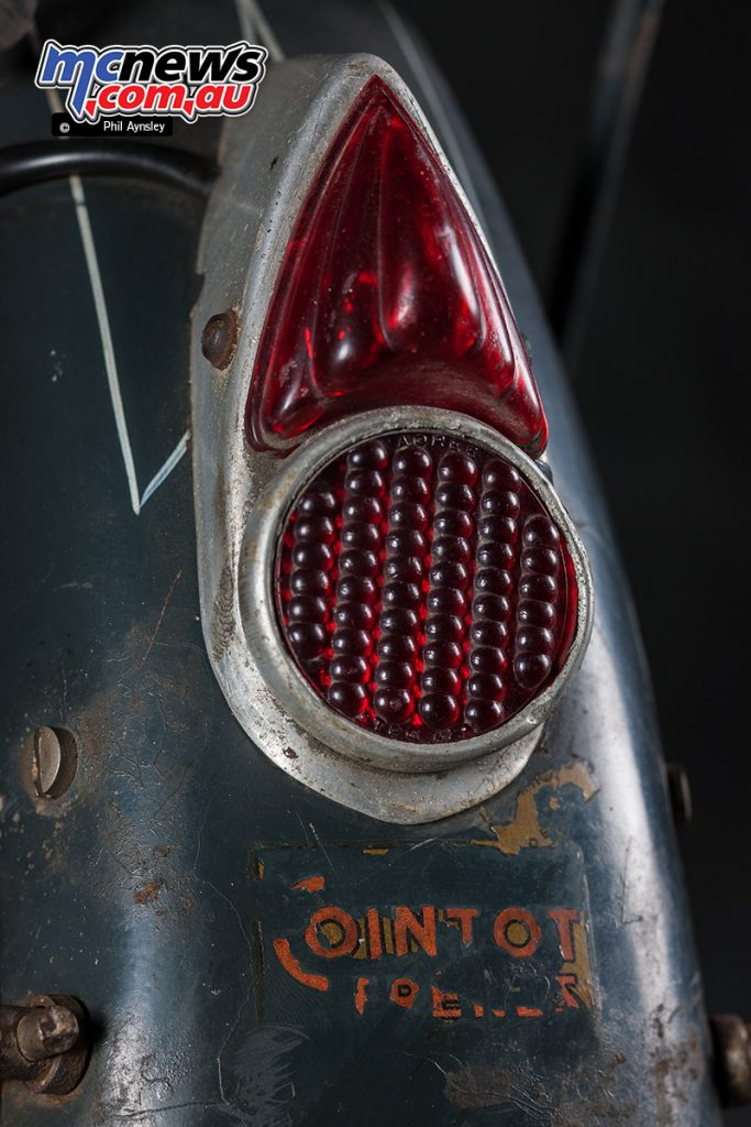 The 1953 Cointot-Freres CM 504 rear brake light.