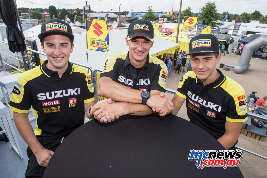 Hunter Lawrence with Stefan Everts and Zach Pichon