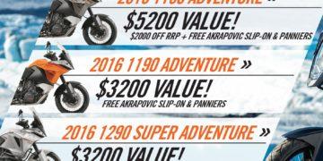 KTM Adventure Range Specials 2016