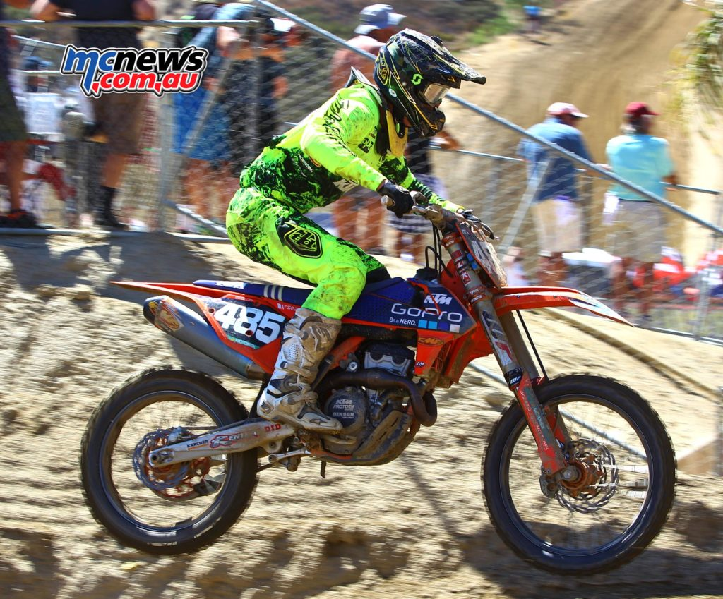 Caleb Ward in action at the MXGP of The USA, Glen Helen, 2016 - Image by Hoppenworld