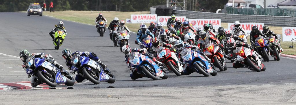 JD Beach (1) topped Gerloff (31) and Valentin Debise in the final Supersport race.
