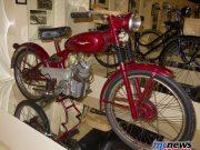 An unrestored 1949/1950 Ducati 60 Sport in the Morbideli Museum, Italy. Right side.