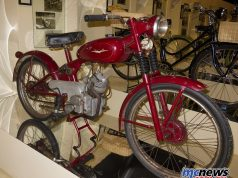 An unrestored 1949/1950 Ducati 60 Sport in the Morbideli Museum, Italy. Right side.