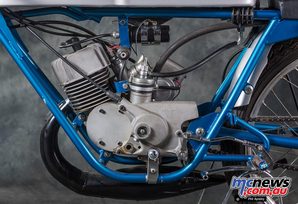 British rider Dick Sullivan purchased this TR50 in 1968 and competed on it until 1974.