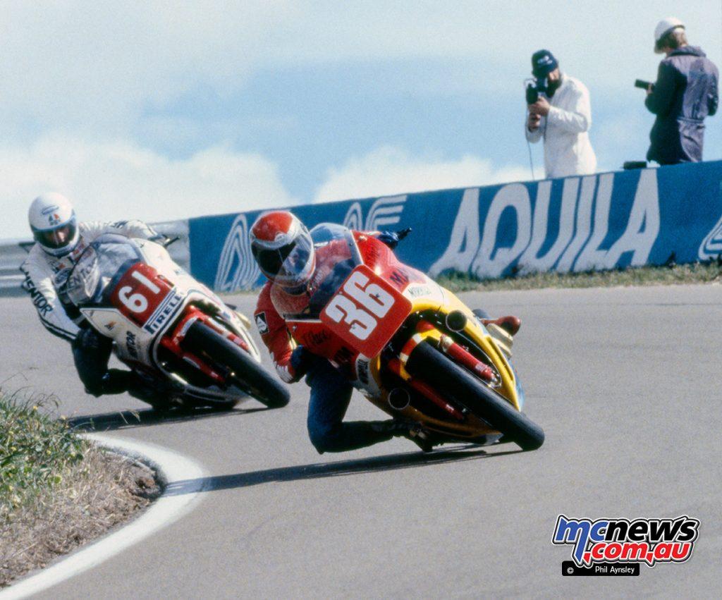 John Pace/Honda 1100 leads Wayne Clarke/Honda 1100.