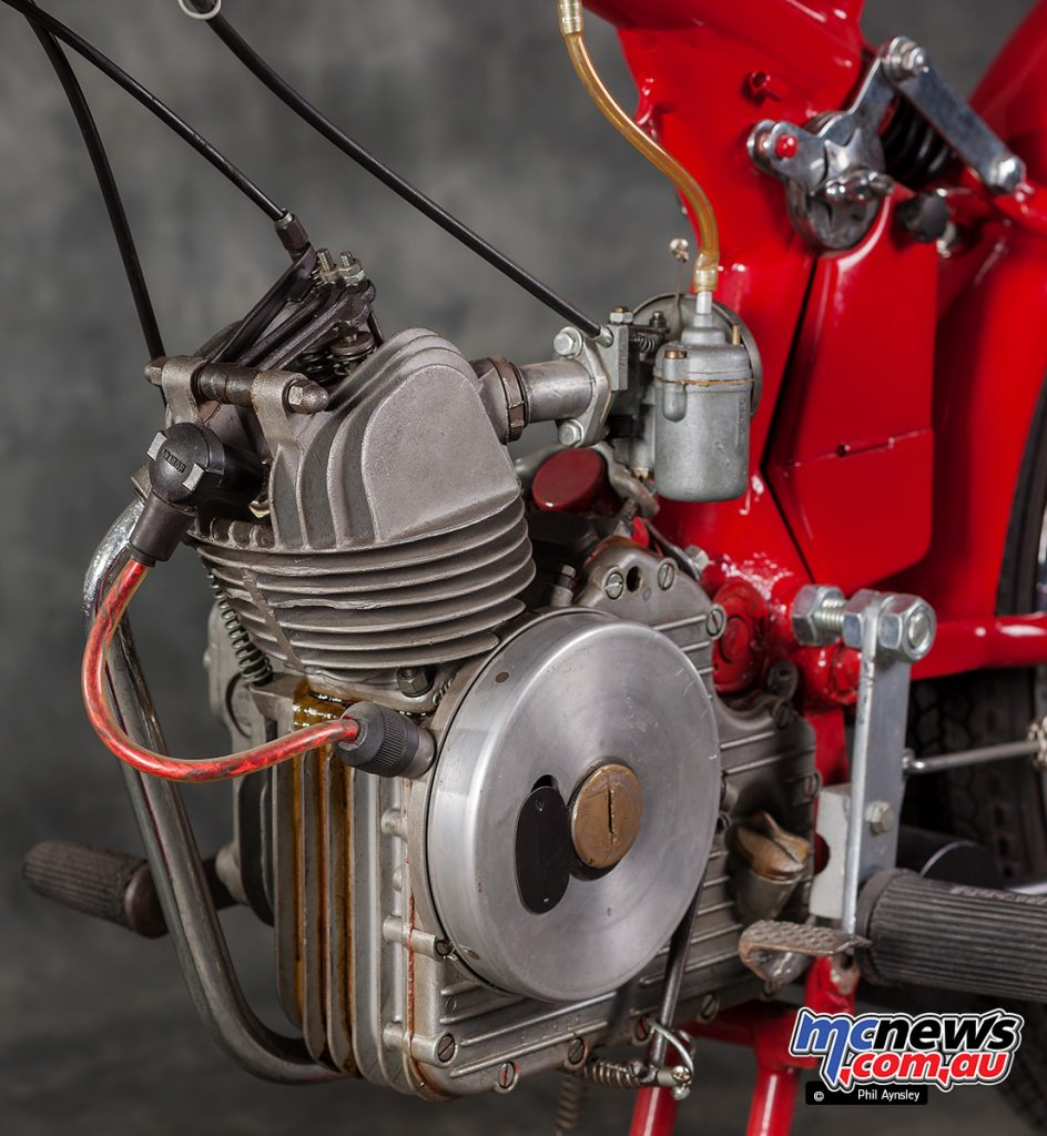 This Series 2 Ducati 60 Sport engine has been restored and kept fully original.