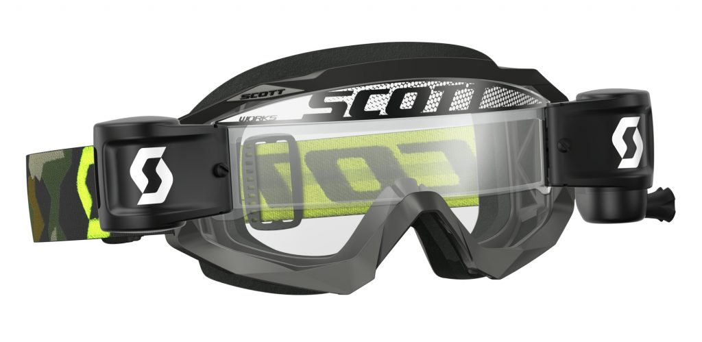 SCOTT Hustle goggles with Works Film System.