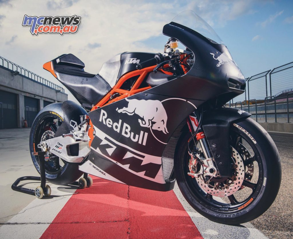 WP KTM Moto2 machine