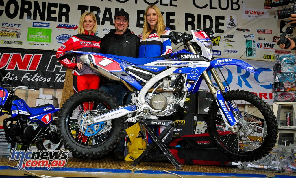 Lucky punter Greg Lee won a unique GYTR accessorised WR450F