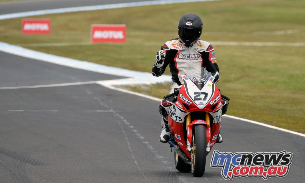 2016 Phillip Island Superbike, Jamie Stauffer wins race 2 - Image Russel Colvin
