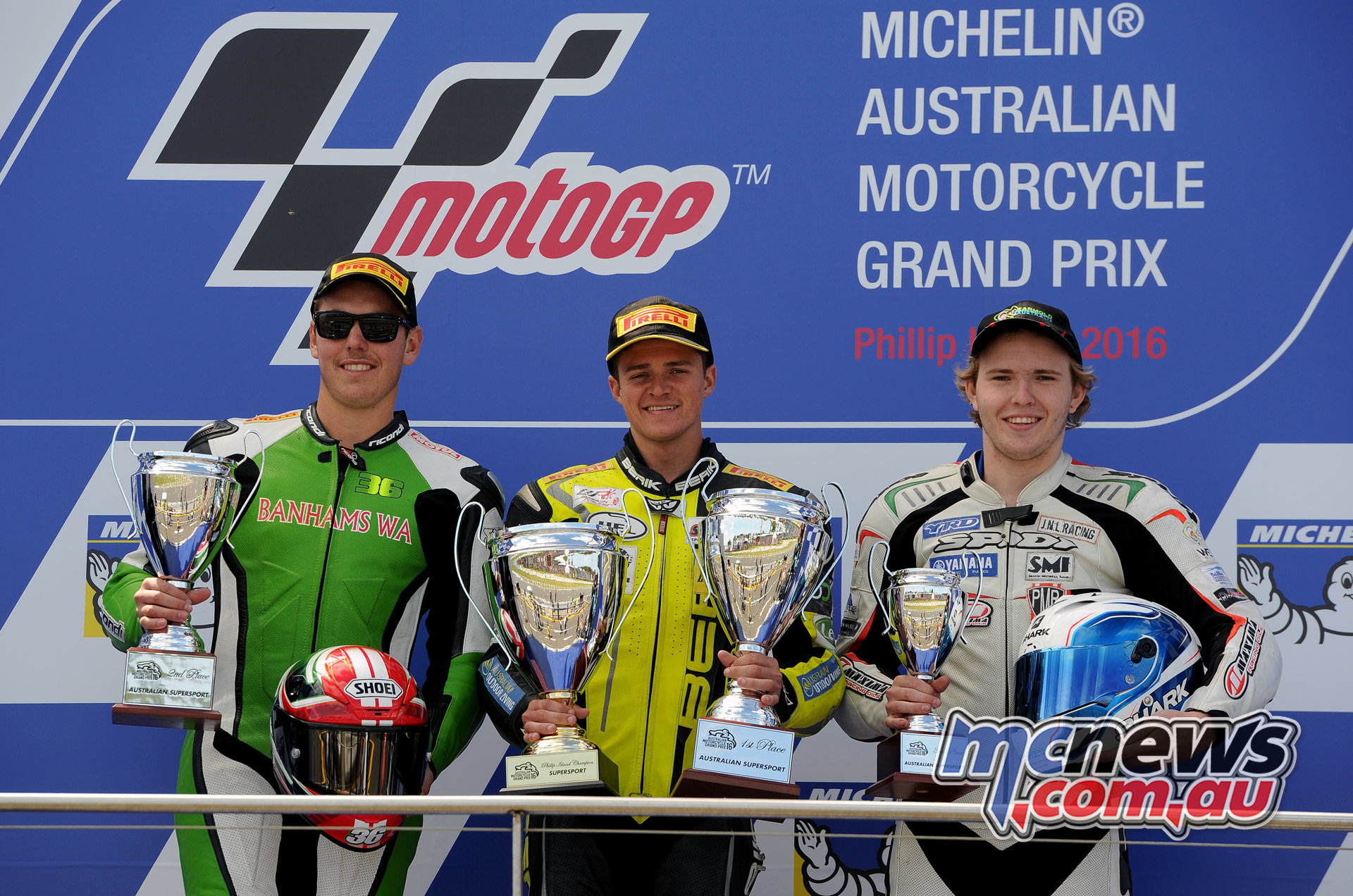 2016 Phillip Island Supersport Podium - Image Emma Carlon