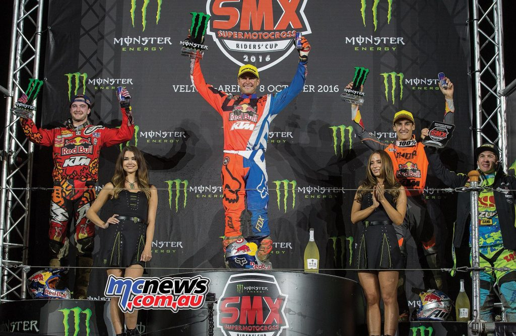 KTM dominate the riders standings in the 2016 SMX Cup