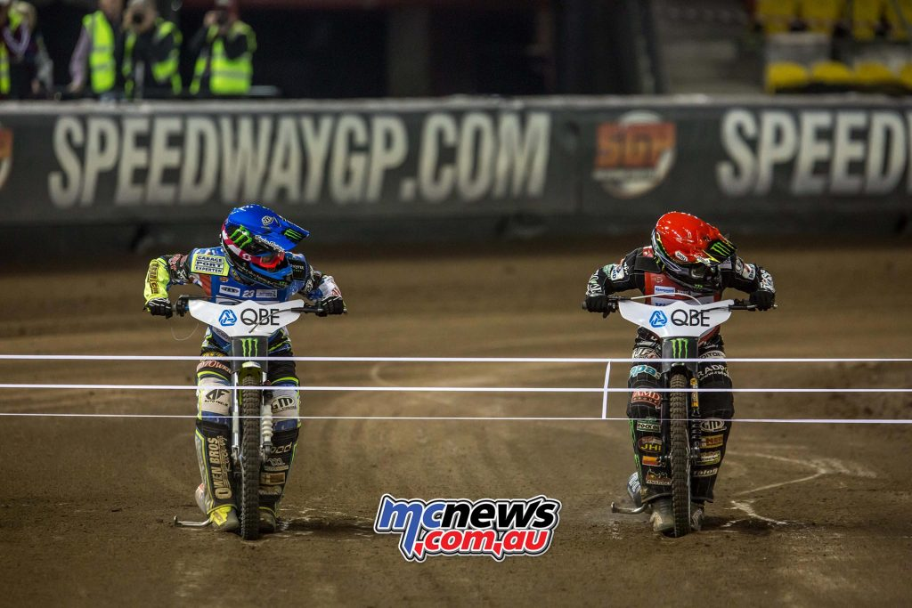 2016 Speedway GP Melbourne - Final start with Chris Holder and Tai Woffinden
