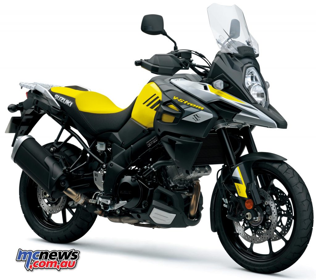 The restyled for 2017 Suzuki V-Strom 1000, standard model, with 10-spoke cast aluminium wheels.
