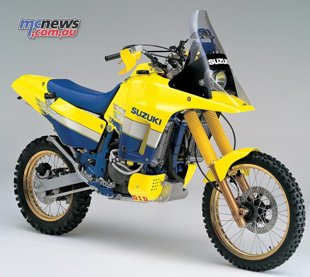 Suzuki DR Big - DR800, the inspiration for the current model's styling.