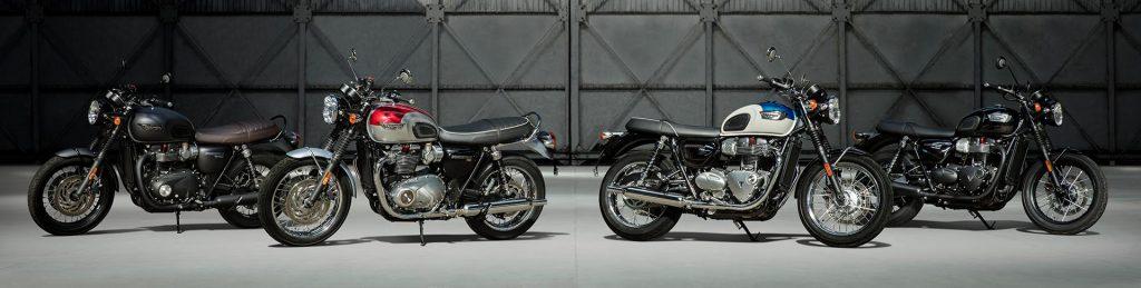 2017 Triumph T100 and T120