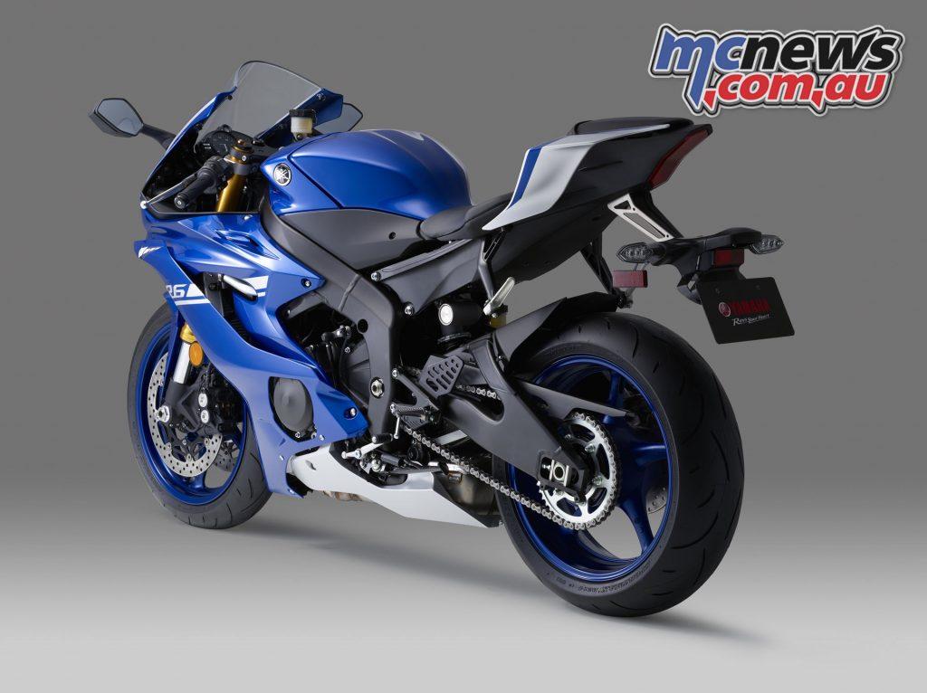 2017 Yamaha YZF-R6, Racing Blu