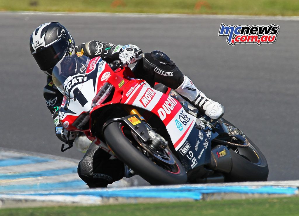 Callum Spriggs got to throw a leg over the DesmoSport Ducati - Image by Steve Duggan SDpics