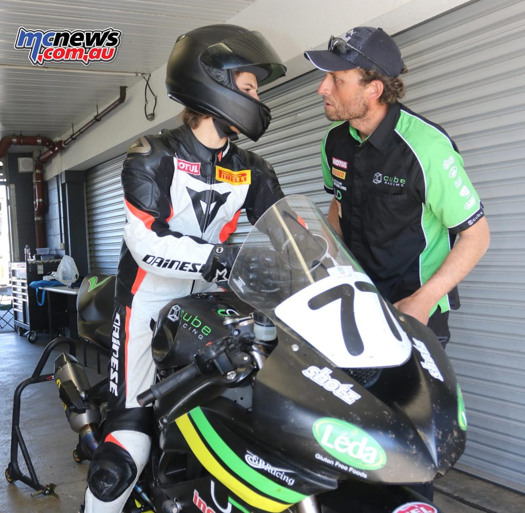 Tom Toparis steps up to the Supersport ranks, pictured here with father Richard - Image by Mark Bracks